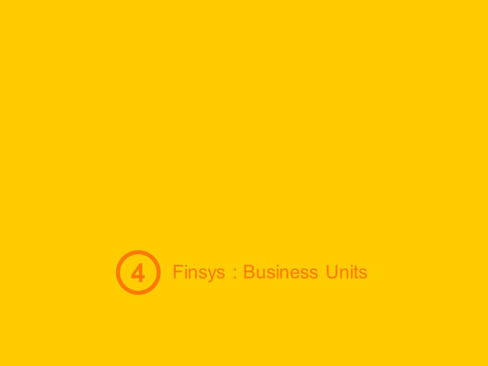 Finsys : Business Units 4