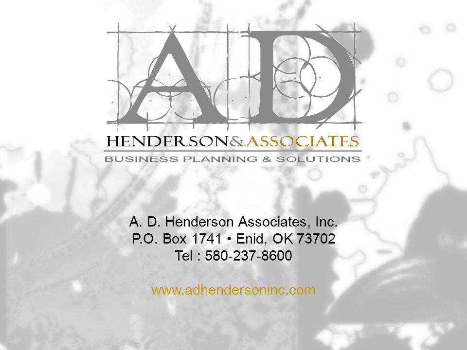 A. D. Henderson Associates, Inc. P.O.