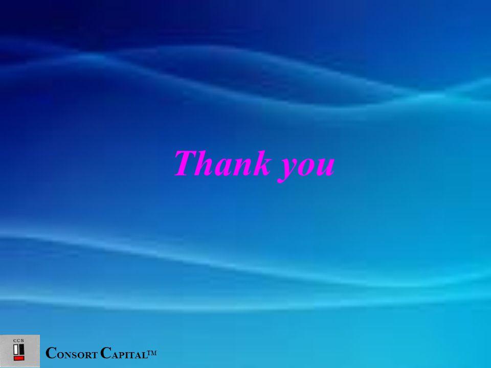 C ONSORT C APITAL TM Thank you