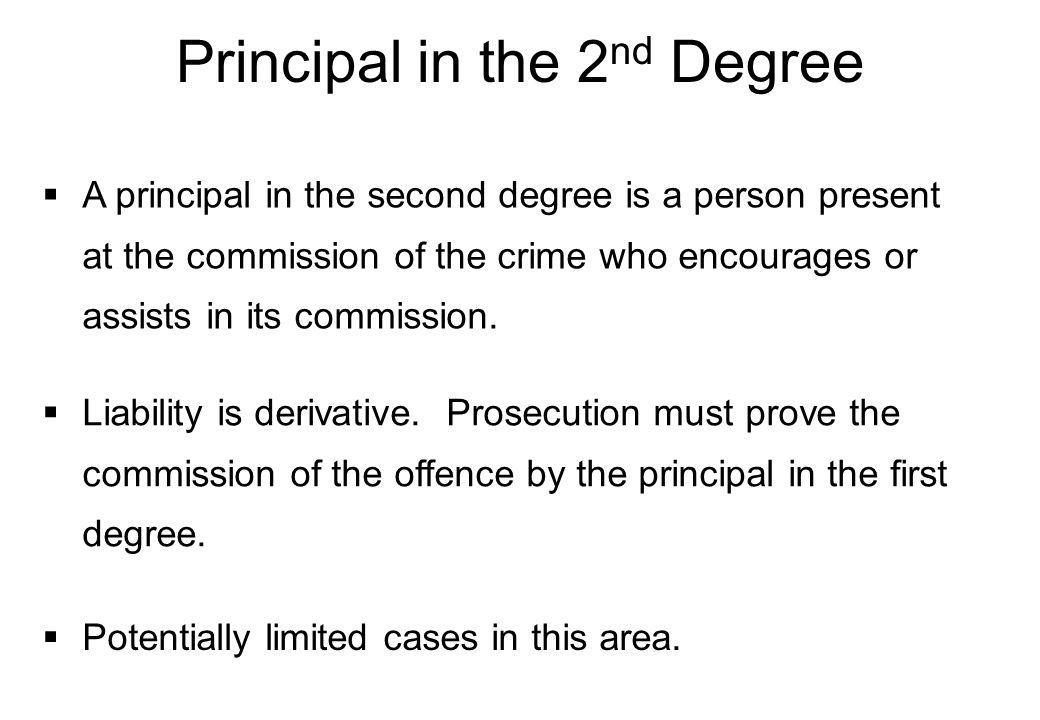 1.The Participants 2.Joint Criminal Enterprise 3.Extended Joint Criminal Enterprise (common purpose) 4.In Company 5.How is the Case Put.