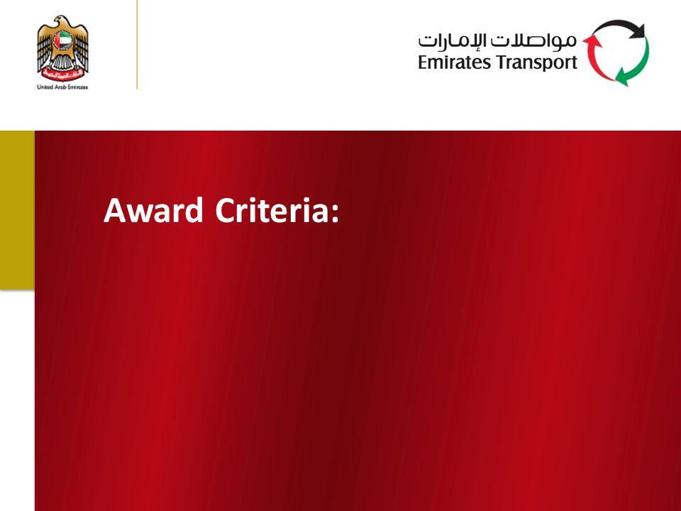 Award Criteria: