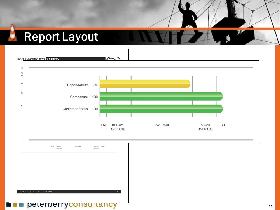 29 Report Layout Defines three general employability scales.