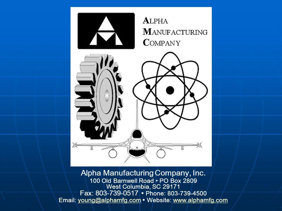 Alpha Manufacturing Company, Inc.