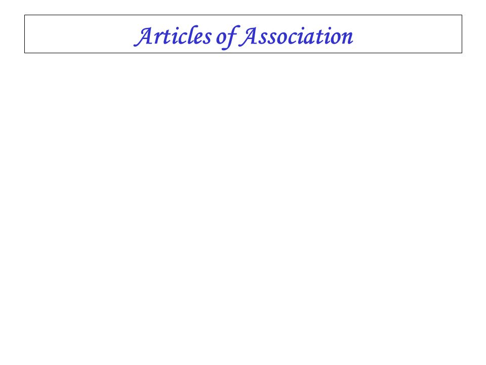 Articles of Association The articles of association of a company have a contractual force between the members inter se in relation to their rights as