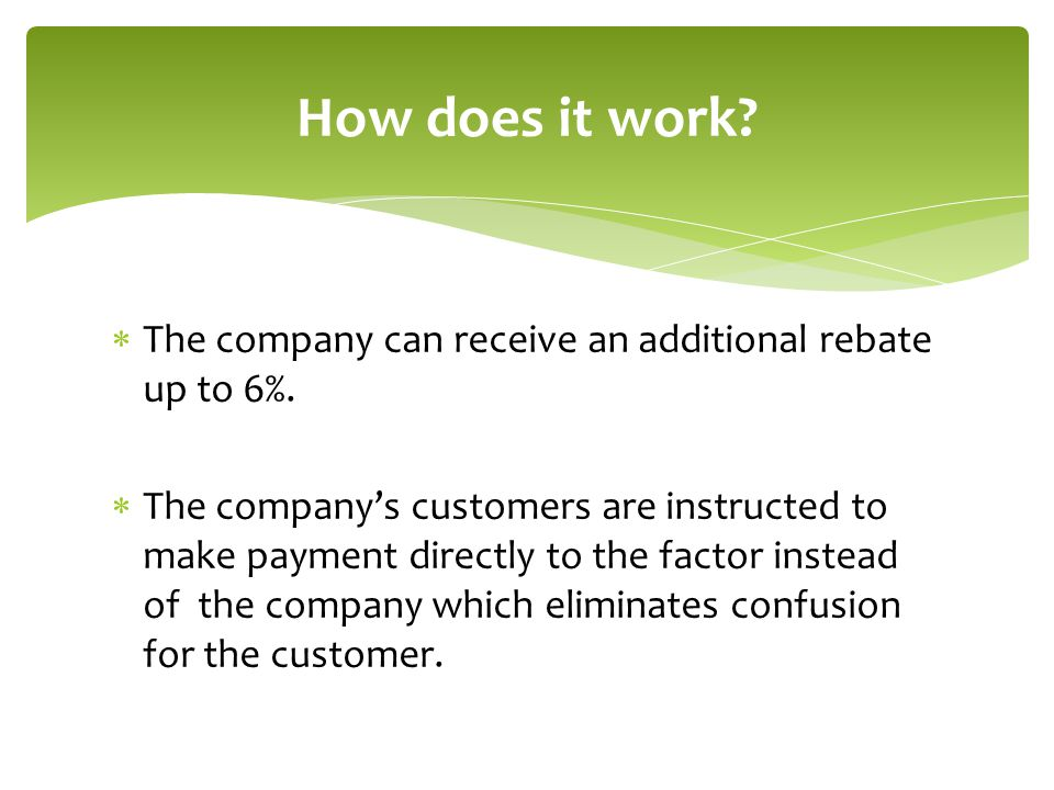  The company can receive an additional rebate up to 6%.