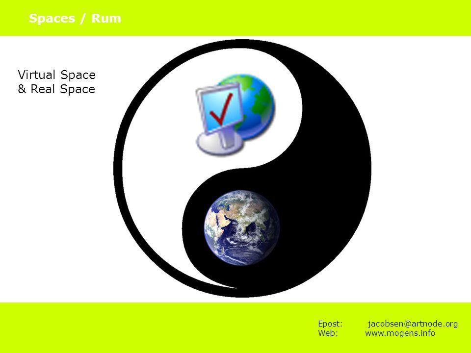 Epost: jacobsen@artnode.org Web:www.mogens.info Spaces / Rum