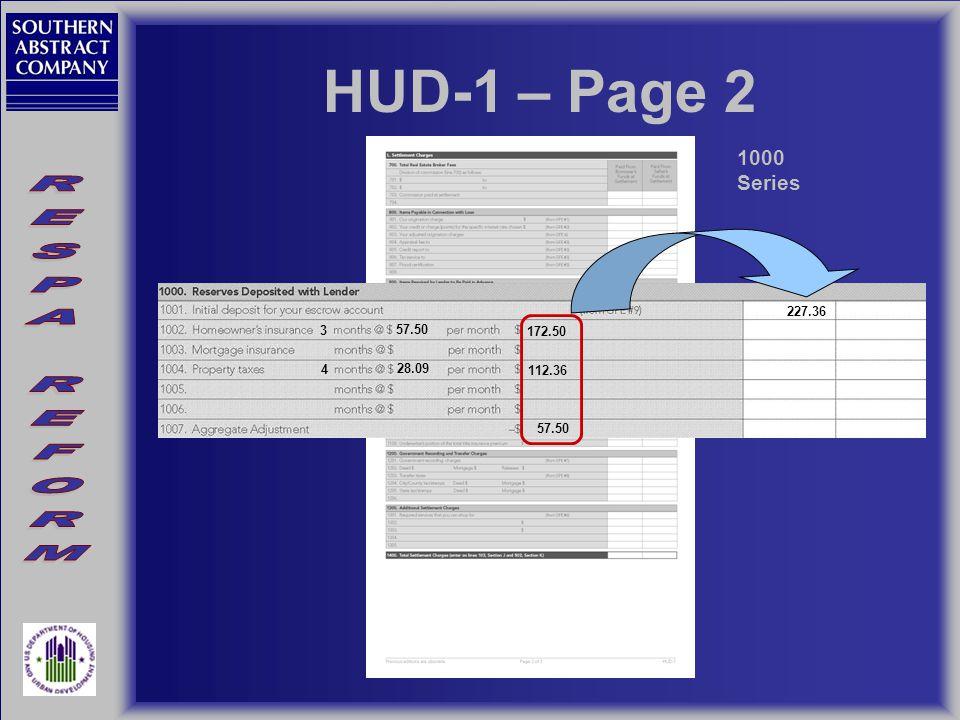 HUD-1 – Page 2 1000 Series 57.50 28.09 3 4 172.50 112.36 227.36 57.50