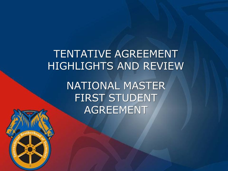 STRUCTURE OF THE MASTER AGREEMENT  UNIQUE TO THE SCHOOL BUS INDUSTRY  OVERLAY LOCAL AGREEMENTS WHICH WILL BE LIKE SUPPLEMENTS  EXISTING AGREEMENTS REMAIN IN FULL EFFECT