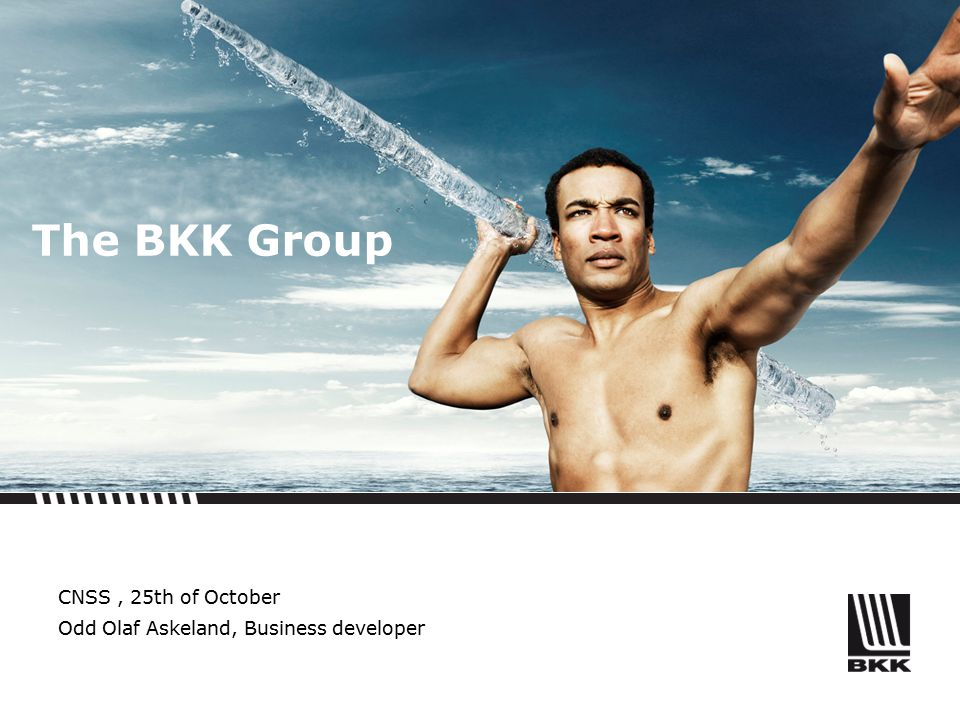 The BKK Group CNSS, 25th of October Odd Olaf Askeland, Business developer