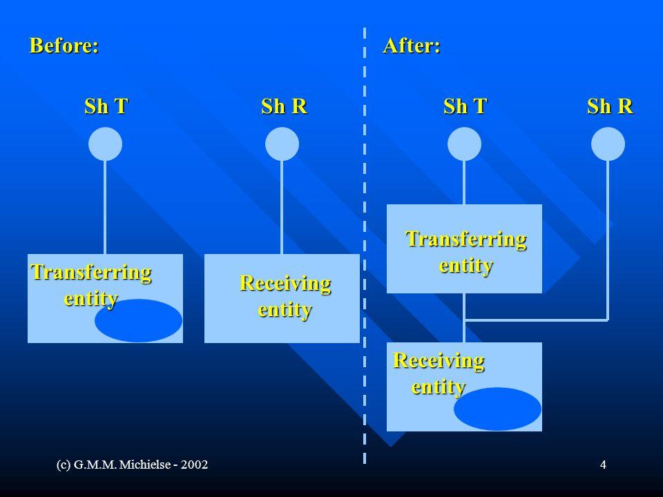 (c) G.M.M. Michielse - 20024 Before:After: Sh R Sh T Sh R Sh T Transferringentity Receivingentity Receivingentity Transferringentity