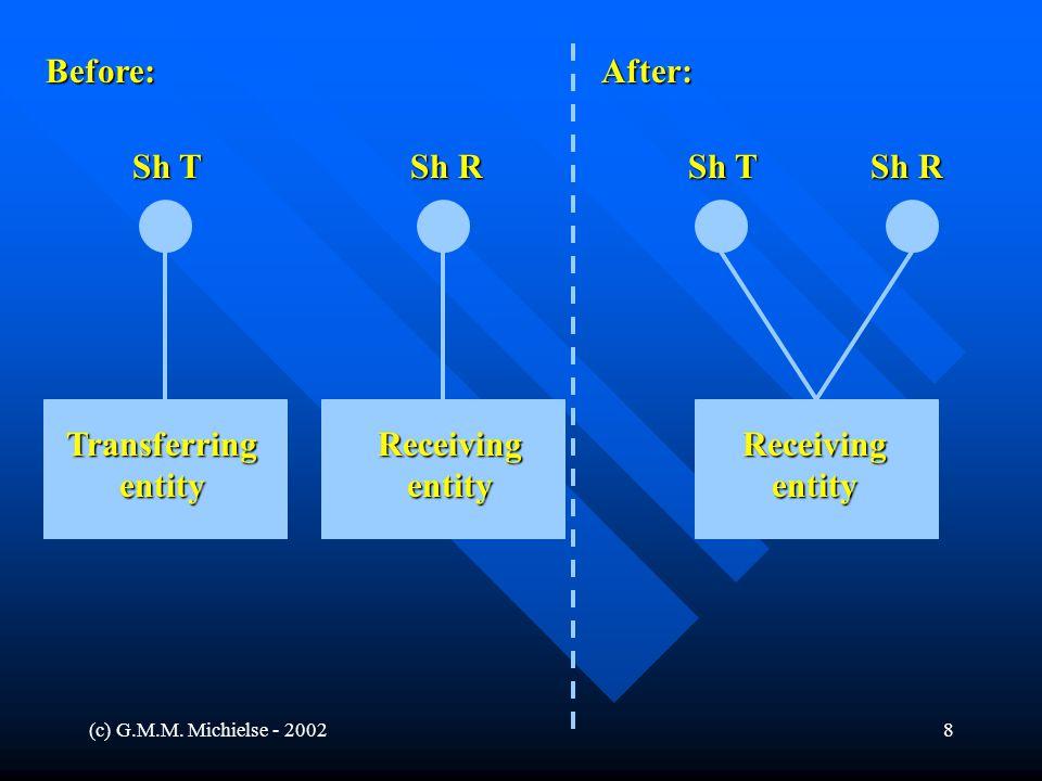 (c) G.M.M. Michielse - 20028 Before:After: Sh R Sh T Sh R Sh T ReceivingentityReceivingentityTransferringentity