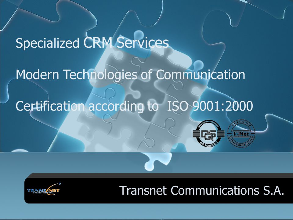 Transnet Group of Companies GREECE GERMANY CYPRUS GREECE Transnet Communications S.A. Transtel Communications G.m.b.H Intertransnet Integrated Consult
