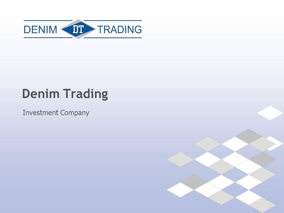 +375 17 210-00-38 || www.denim.by OUR SERVICES Consolidation of equity stake for a strategic investor Denim Trading offers assistance in consolidation of publicly traded securities to achieve pre-defined equity stake for strategic investor:  consulting on investment in publicly traded securities in Belarus;  consolidation of equity stake in the customers' interests.