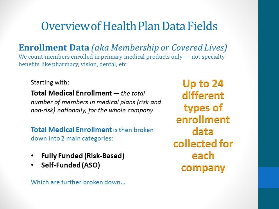 Overview of Health Plan Data Fields Key Executives Up to 17 names per company — First Name, Last Name — Listed by Job Function The CD offers complete