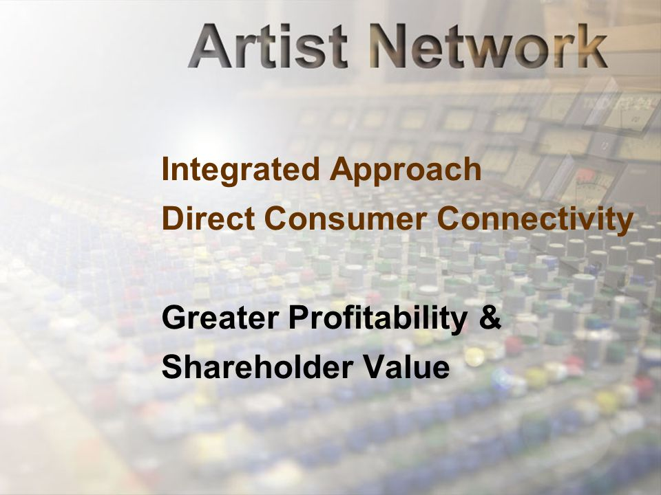 Integrated Approach Direct Consumer Connectivity Greater Profitability & Shareholder Value