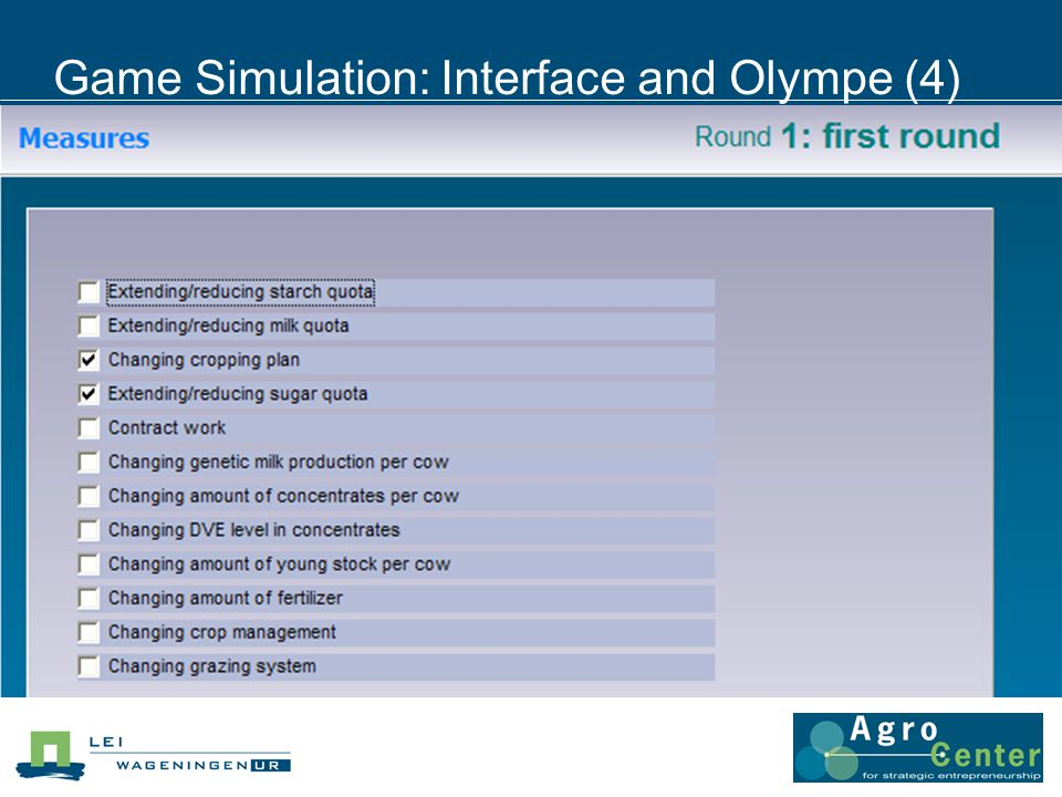 Game Simulation: Interface and Olympe (4)