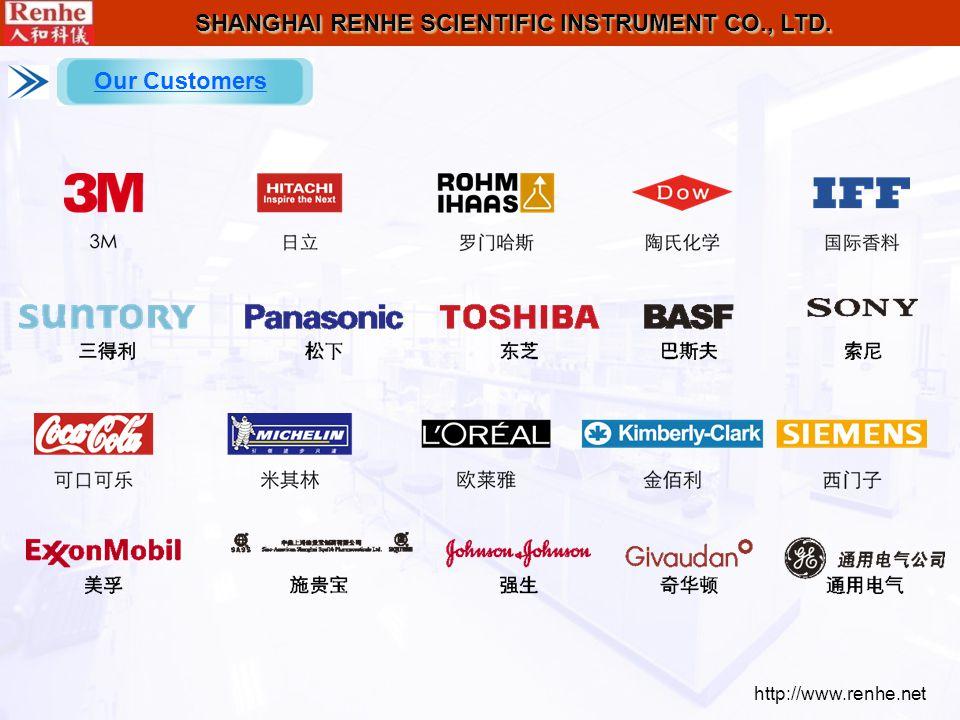 http://www.renhe.net SHANGHAI RENHE SCIENTIFIC INSTRUMENT CO., LTD. Our Customers