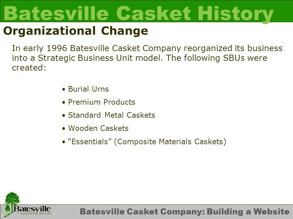 Batesville Casket Company: Building a Website Initial Website James J.