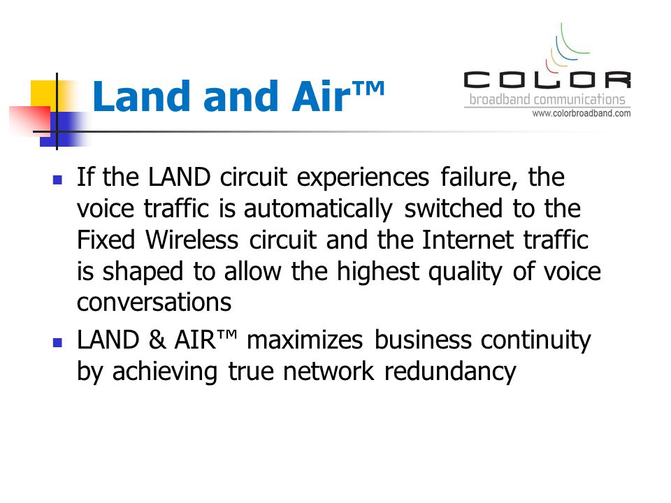 Why is LAND & AIR™ different.