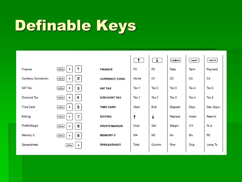 Definable Keys