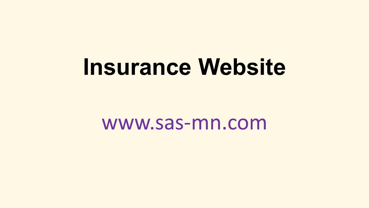 Insurance Website www.sas-mn.com