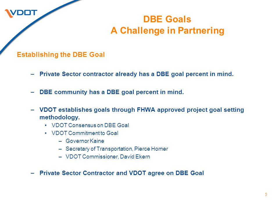 26 Best Practices for DBE Success Provide Supportive Services to DBEs –Bonding Requirements –Skills to Perform Work –Proper paperwork –Communication and interaction with Prime Contractor –Contract Proposal –Work most suitable to DBE firm's capabilities –Pre-proposal conferences and workshops –Certification Agreements between States –Good Reputation and outstanding work performance –Technical and business assistance to help DBEs build capacity to deliver work Understand Contract Proposal – seek legal assistance Bid on work most suitable to company's capabilities to maximize profit and minimize time and additional expense Attend Pre-proposal meetings and DBE Workshops