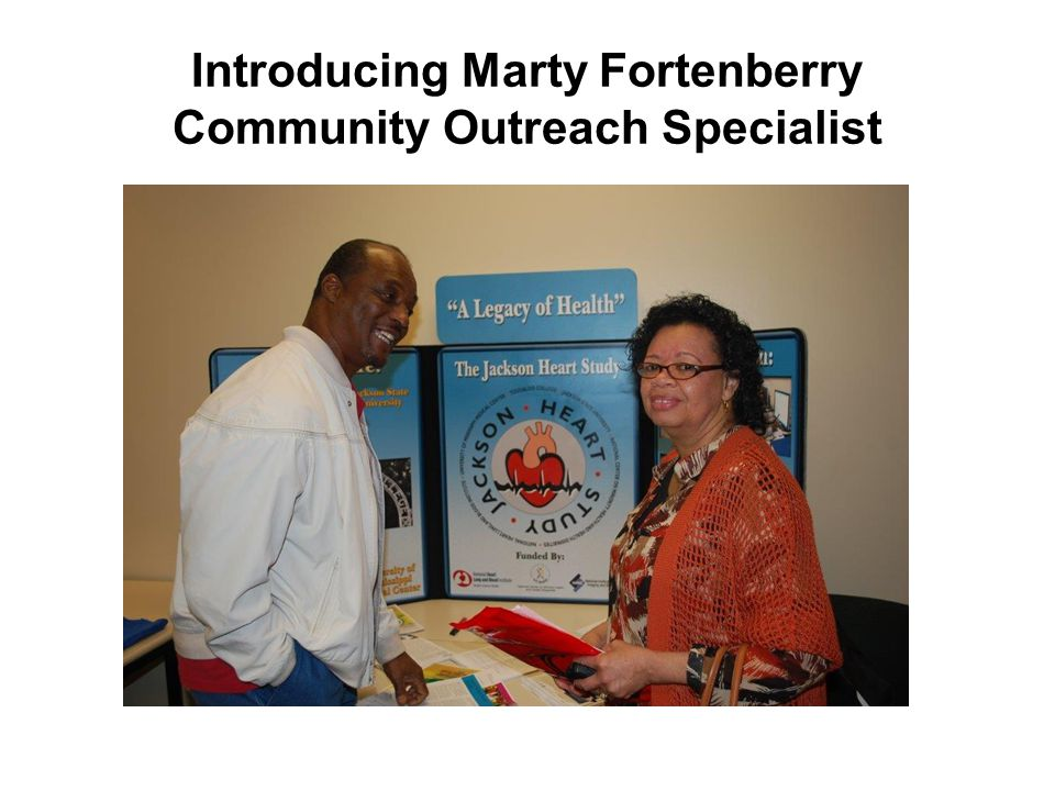 Introducing Marty Fortenberry Community Outreach Specialist
