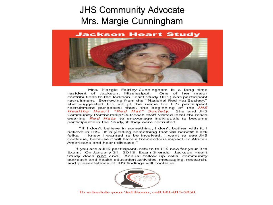 JHS Community Advocate Mrs. Margie Cunningham