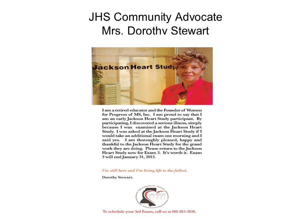 JHS Community Advocate Mrs. Dorothy Stewart