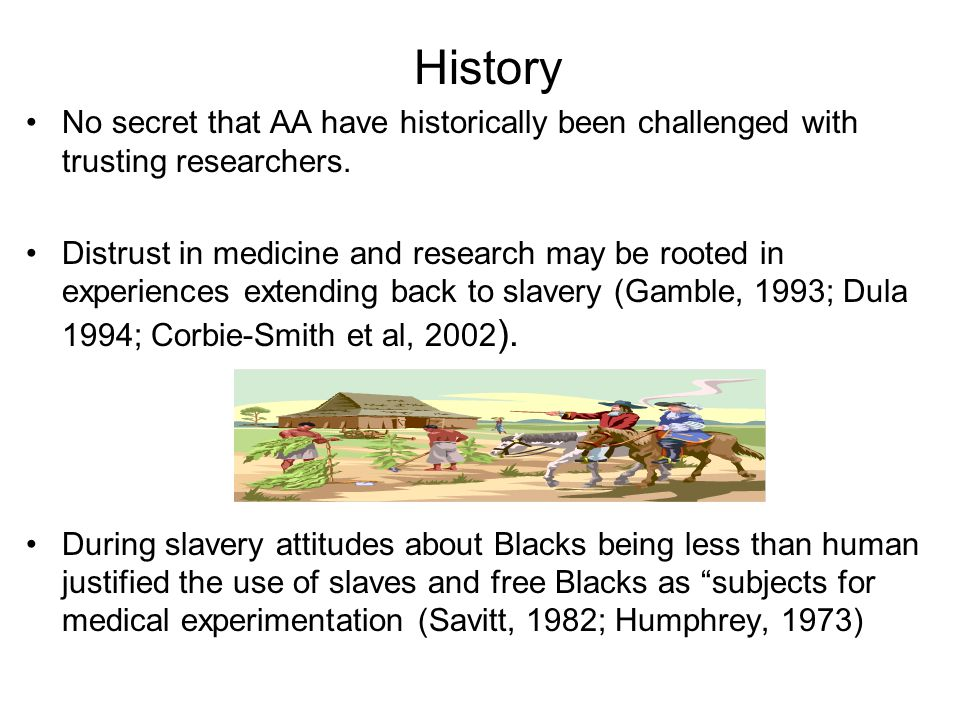 History No secret that AA have historically been challenged with trusting researchers.
