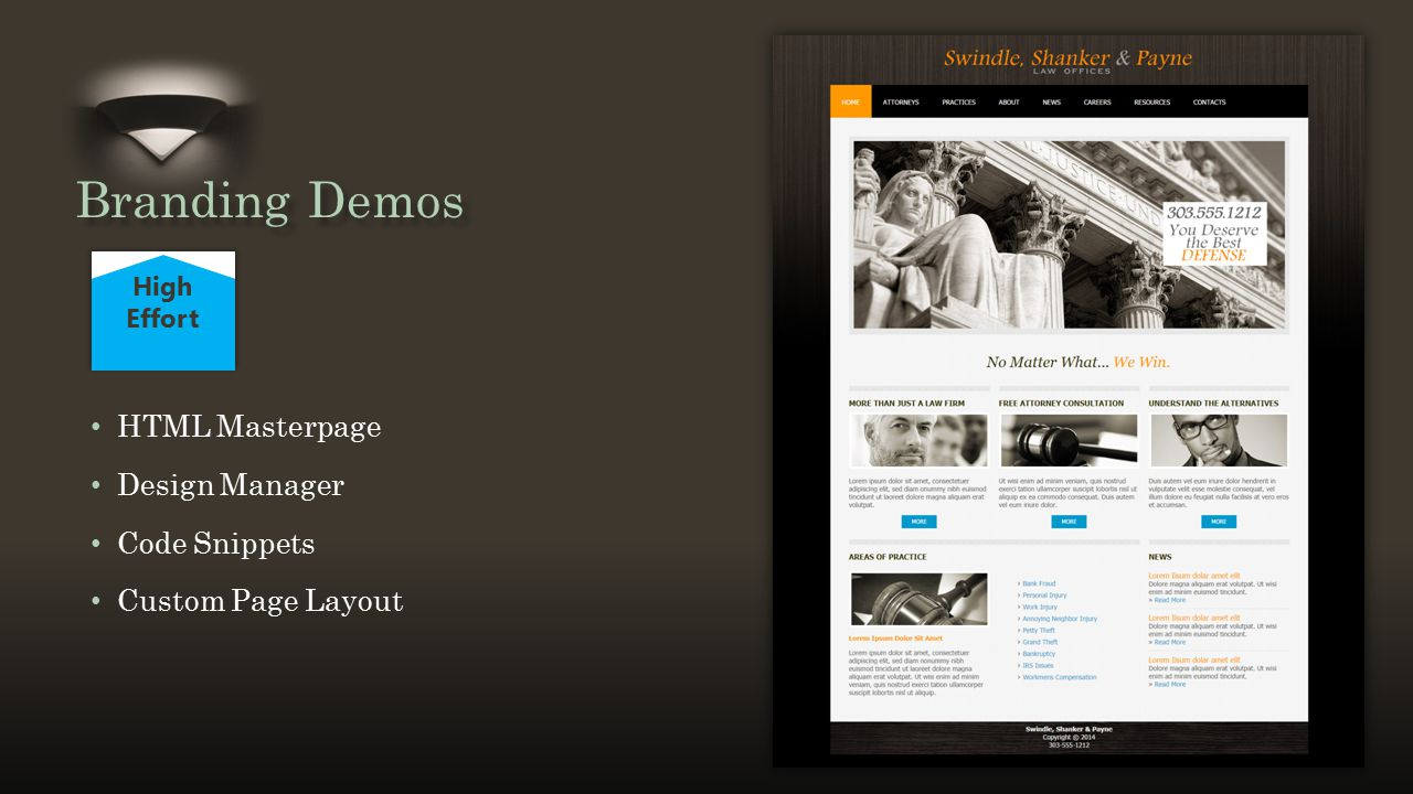 Title and Content Layout with List HTML Masterpage Design Manager Code Snippets Custom Page Layout High Effort Branding Demos