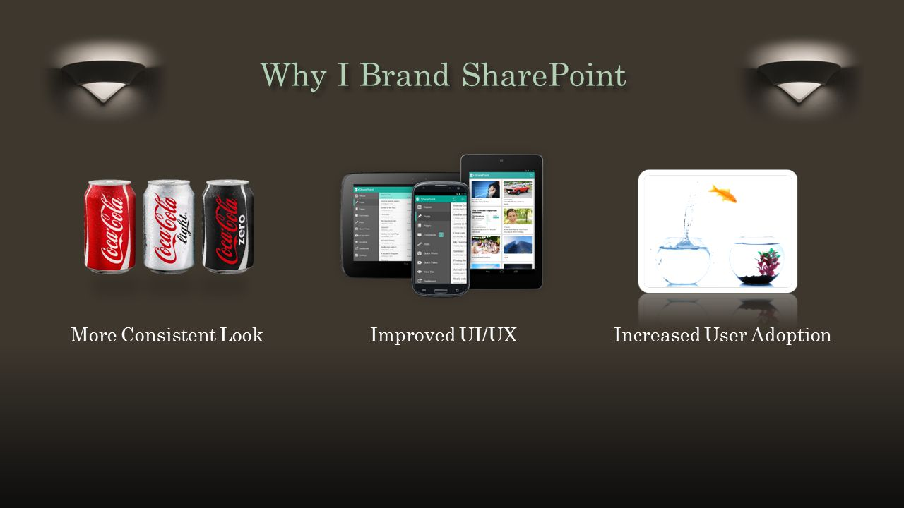 Title and Content Layout with List Why I Brand SharePoint More Consistent Look Improved UI/UX Increased User Adoption
