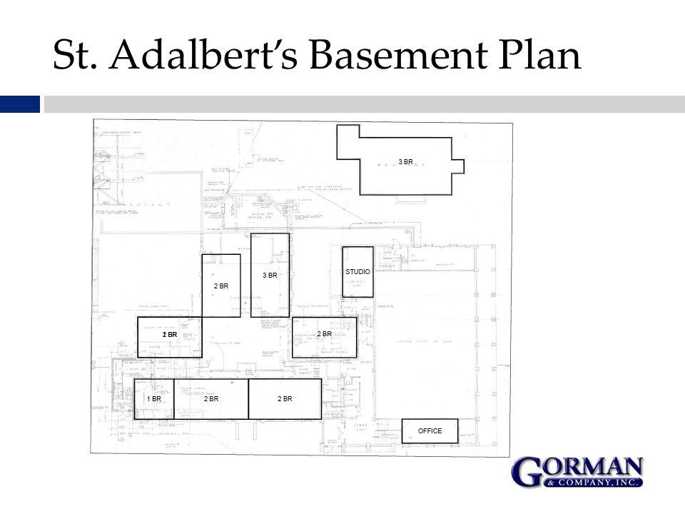St. Adalbert's Basement Plan