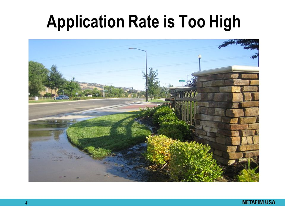 4 Application Rate is Too High