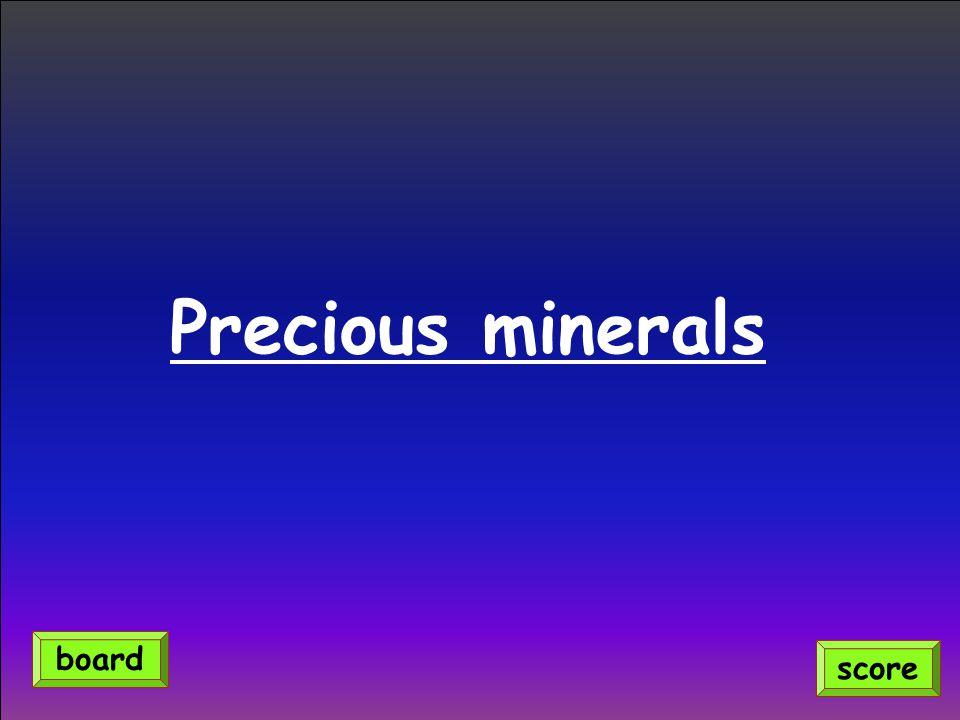 Precious minerals score board