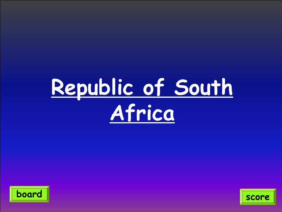 Republic of South Africa score board