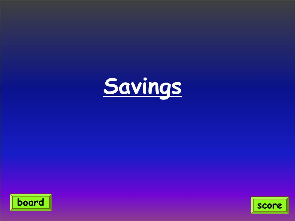 Savings score board