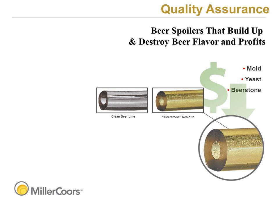 "Mold Yeast Beerstone Clean Beer Line ""Beerstone"" Residue Beer Spoilers That Build Up & Destroy Beer Flavor and Profits Quality Assurance"