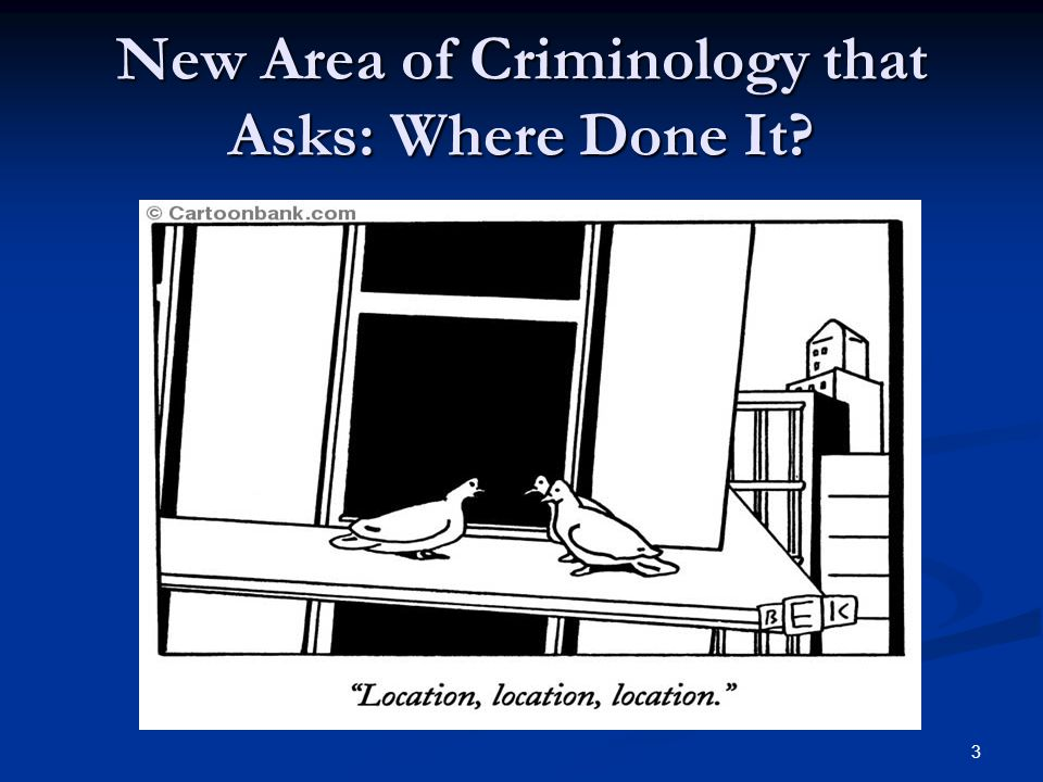 New Area of Criminology that Asks: Where Done It 3
