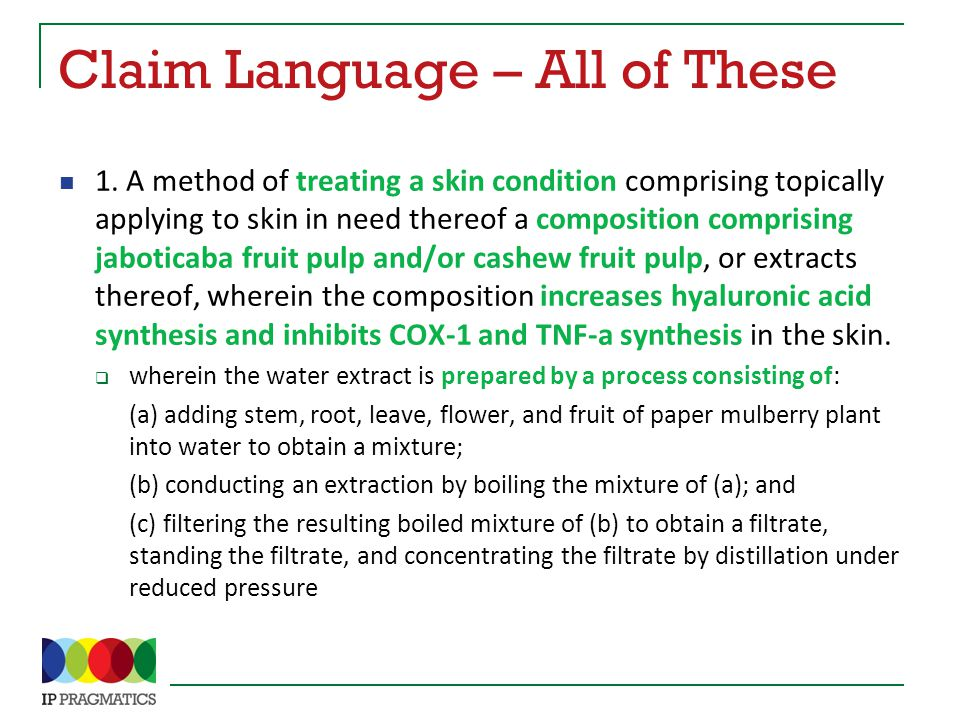 Claim Language – All of These 1.