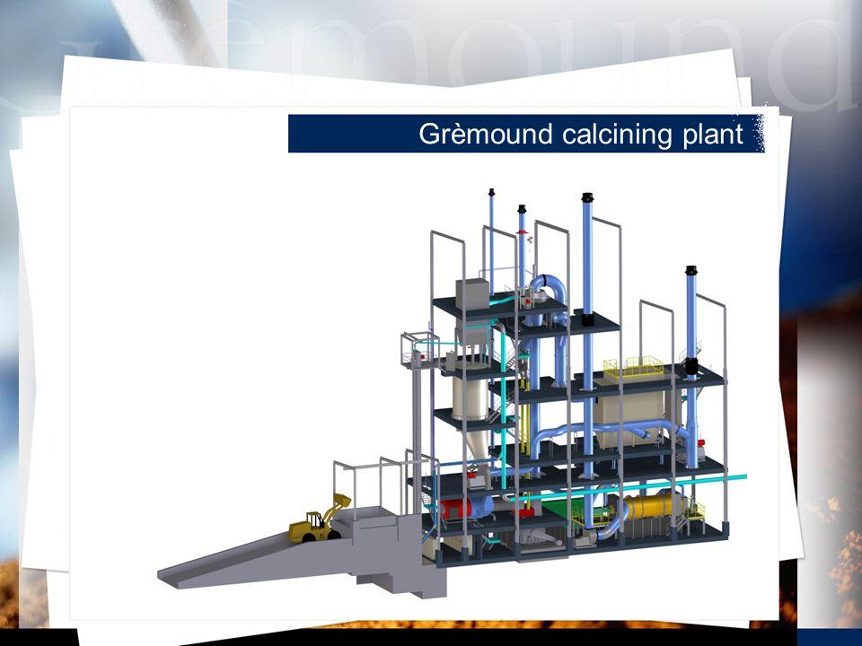 Grèmound calcining plant