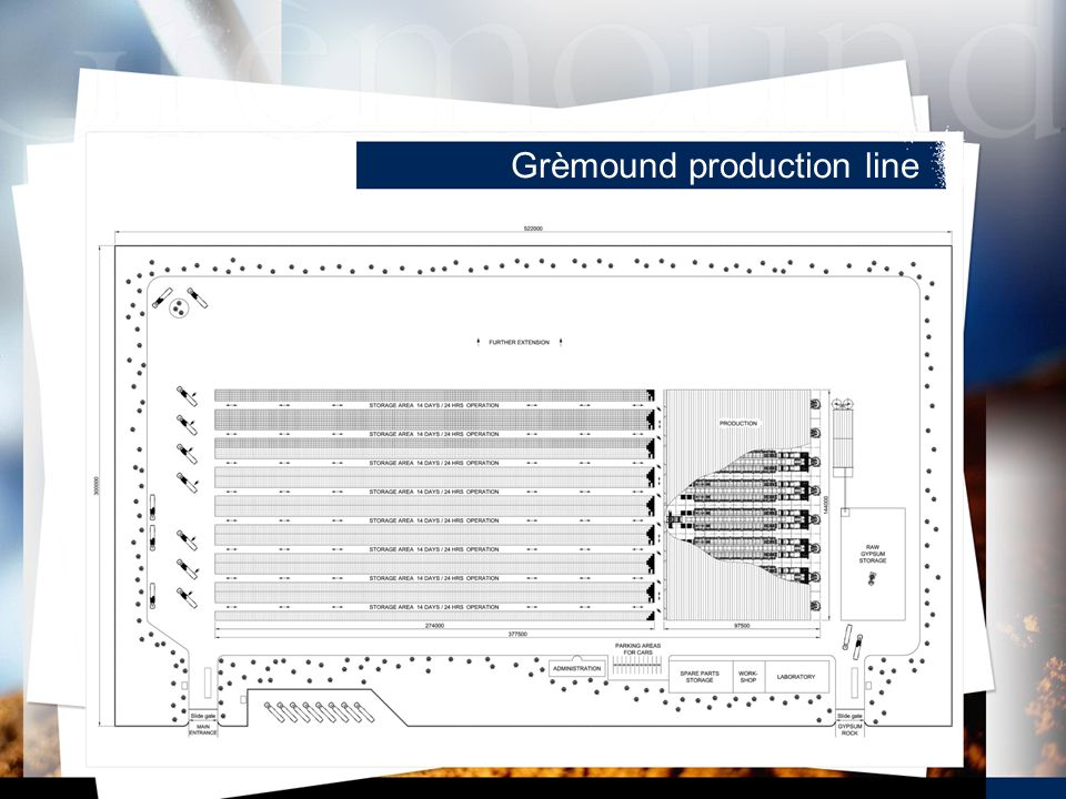Grèmound production line