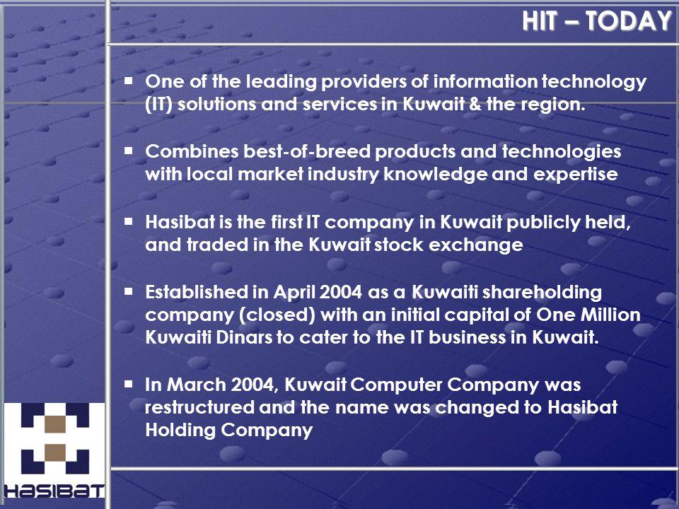 Contact Information Physical Address: Hasibat Information Technologies K.S.C.C.