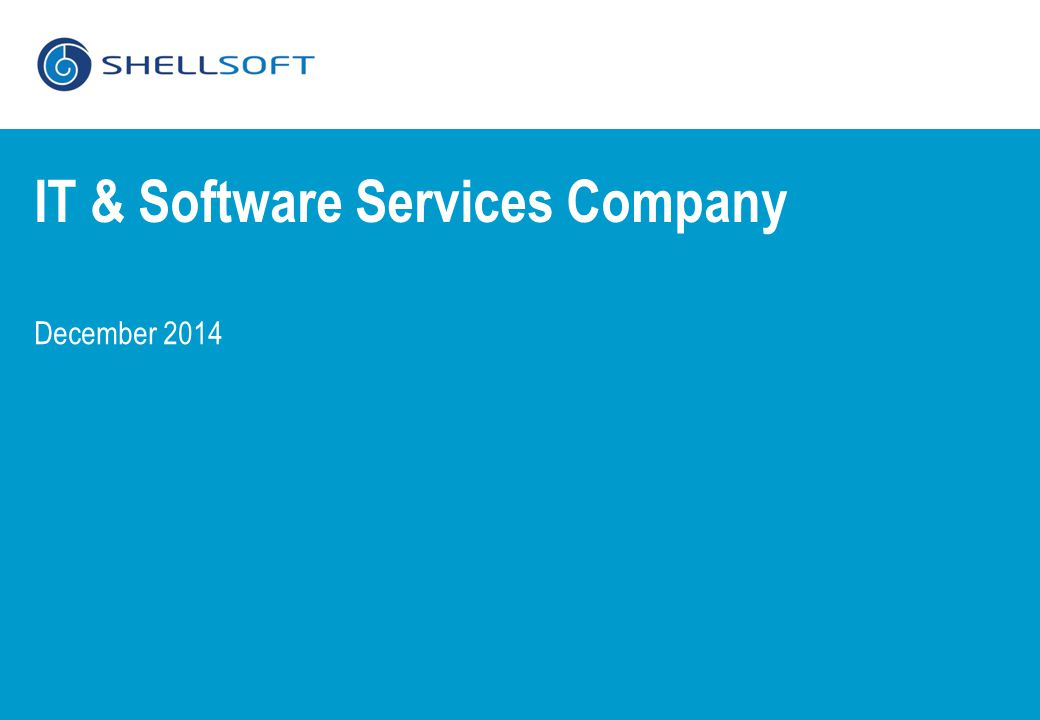 December 2014 IT & Software Services Company
