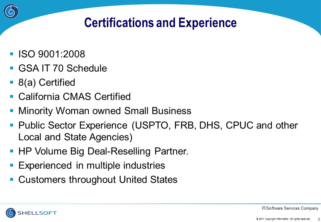 IT/Software Services Company Success Stories….14 © 2011 Copyright Information.