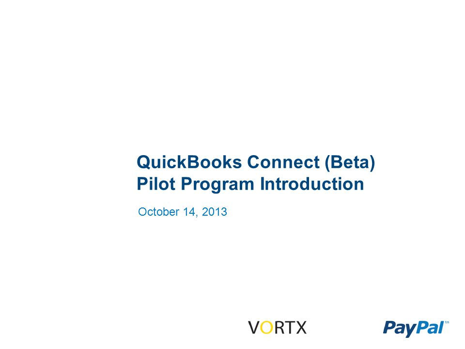 Confidential and Proprietary 2 What QBConnect Does Reads transactional data from your PayPal business account.