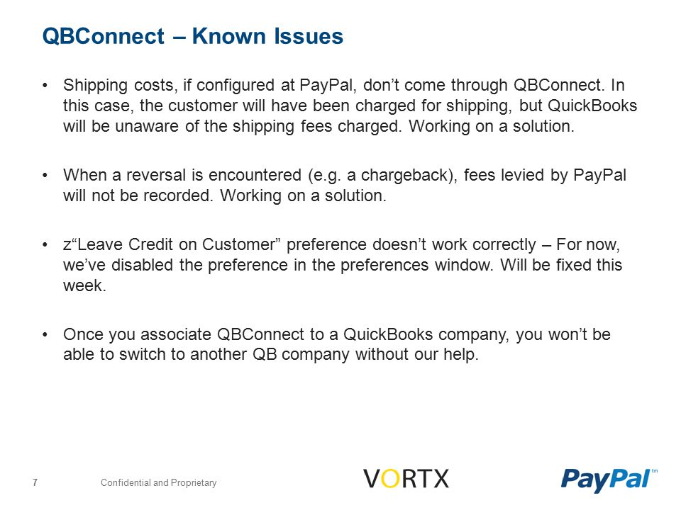 Confidential and Proprietary 8 QBConnect – Feedback and Support Thank you.