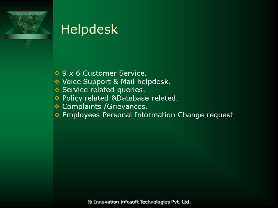 Helpdesk  9 x 6 Customer Service.  Voice Support & Mail helpdesk.