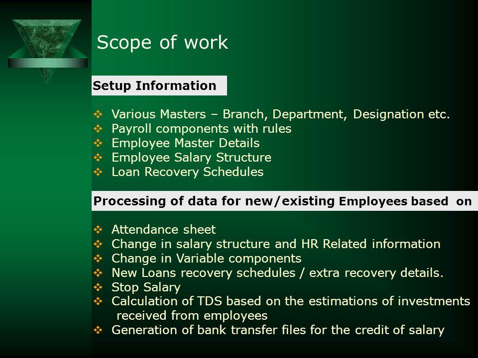  Reimbursement Processing  Full & Final Settlement  Generation of reports Scope of work
