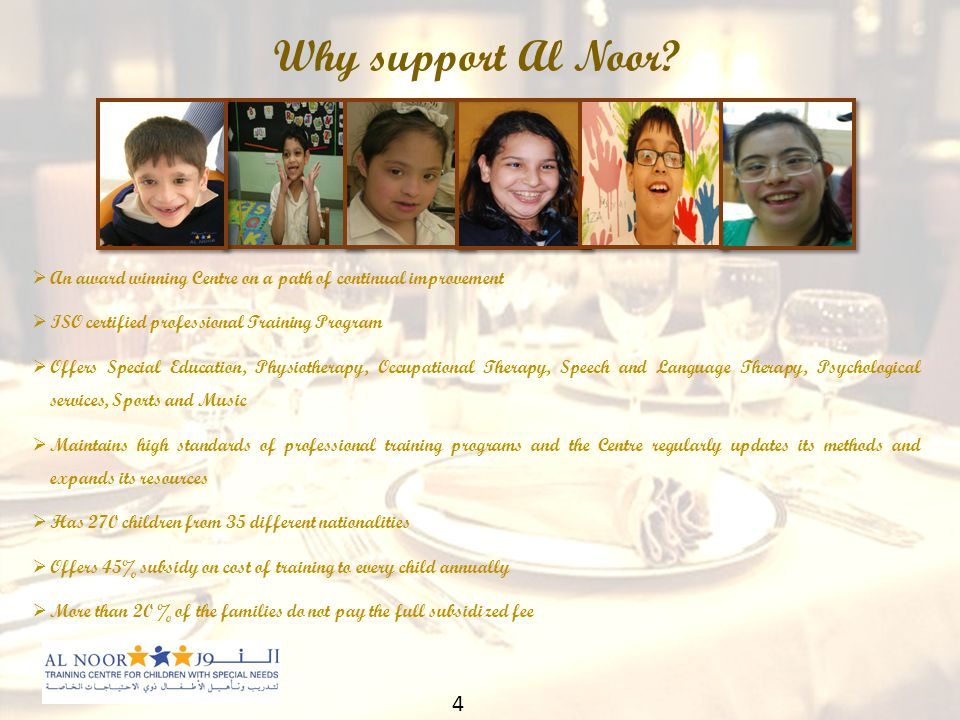 Why support Al Noor.